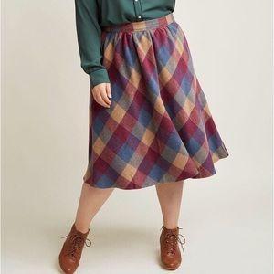 Modcloth Sunday Sojourn Midi Skirt
